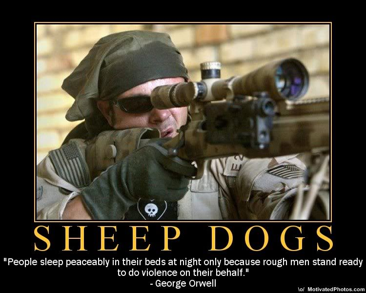 Sheep Sheepdogs Wolves and American Sniper